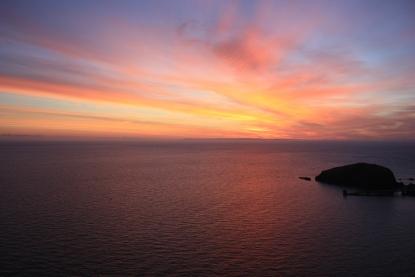 sea-dawn-sunset-cloudy